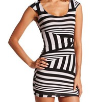 Striped Panel Body-Con Dress: Charlotte Russe