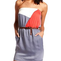 Hammered Color Block Dress: Charlotte Russe