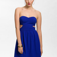 En Crème Strapless Cutout Dress (Juniors) | Nordstrom