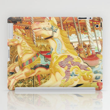 Carousel Horse : Fond Memories of Childhood  iPad Case by Lilkiddies