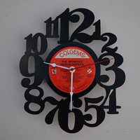 Vinyl Record Album Wall Clock (artist is The Monkees)