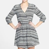 Lush 'Kendal' Surplice Faux Wrap Dress (Juniors)