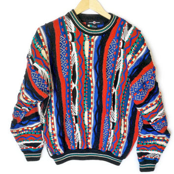 Bright Textured Multicolored Cosby Ugly Sweater