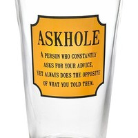 Barbuzzo 'Askhole' Pint Glass | Nordstrom