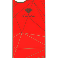 Diamond Supply Co Brilliant Red & Gold iPhone 5 Snap Case