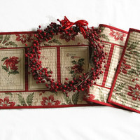 Christmas Table Runner, Reversible Table Runner, Table topper, Christmas decor