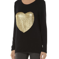 Madam Rage Foil Heart Dipped Knit