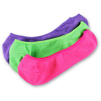 Empyre Neon 3-Pack No Show Socks