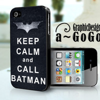 Keep Calm and Call Batman iphone 4/4s case, The Dark Knight Rises, custom cell phone case
