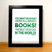 Doctor Who Book Quote Print - 8x10 Digital Print