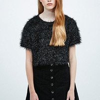 Cooperative Tinsel Top in Black - Urban Outfitters