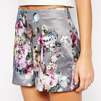 River Island Co Ord Floral Tailored Short