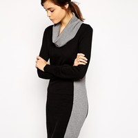 Oasis Color Block Sweater Dress