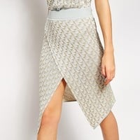 ASOS Co-ord Knitted Skirt In Metallic Pattern