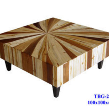 Thai Slab Furniture — Mixed Wood Coffee Table Custom Sizes & Designs Available Dining Room Living Room