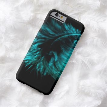 Feather in turquoise iPhone 6 case