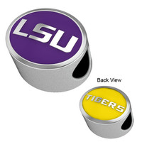 CB-121C Louisiana State Tigers LSU Enamel Collegiate Bead