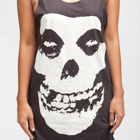 Misfits Shirt Horror Skull Punk Band Women Tank Top Black Shirt Tunic Top Vest Sleeveless Women T-Shirt Size S M