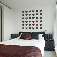 Heart Grid - Vinyl Wall Art Decal Sticker