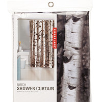 Birch Shower Curtain White/Black One