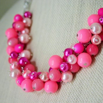 "Breast Cancer Fundraiser! ""Forever Pink"" Necklace - 20% of each Sale donated to the BCRF"