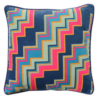Heal's 1810 Deco Zig Zag Cushion By Ottilie Stevenson