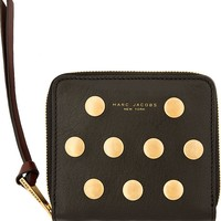 Black & Gold Flat Stud Little Sister Travel Wallet42190F064002