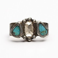 Mikal Winn Womens Three Stone Double Ring - Turquoise One