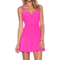 NBD Luminous Fit & Flare Dress in Fuchsia