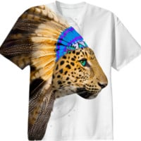 Fight For What You Love • Chief of Dreams: Amur Leopard v.2 Unisex T-Shirt created by soaringanchordesigns | Print All Over Me
