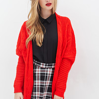 Mixed Cable Knit Cardigan - Clothing - 2000058401 - Forever 21 UK