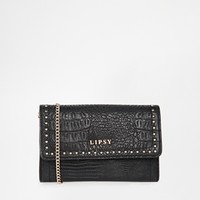 Lipsy Purse in Faux Croc and Studding at asos.com