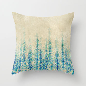 Winter Woods  Throw Pillow by rskinner1122
