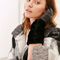 Leather + Fur Elbow Glove - Urban Outfitters