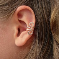 Hand Hammered Silver Filled Ear Cuf.. on Luulla