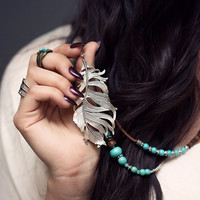 Lucy Feather Necklace
