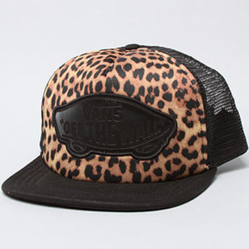 The Beach Girl Trucker Hat in Black Leopard