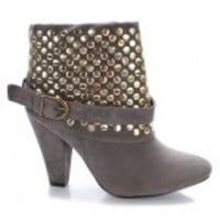 Liliana Rihanna Studded Bootie Ankle Boot