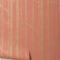 Woods Wallpaper, Coral - Anthropologie.com
