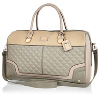 Grey quilted weekend bag
