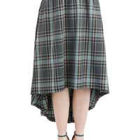 ModCloth High-Low Hem Avant-Garde Academic Skirt