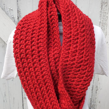 READY TO SHIP, Large Tampa Spice Chunky Scarf, Infinity Scarf, Fall Winter, Women's Accessory, Cowl