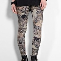 Lace Print Leggings by McQ Alexander McQueen