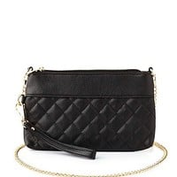 Quilted Wristlet Purse by Charlotte Russe - Black
