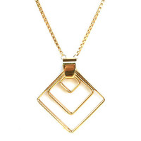Vintage Geometric Diamond Shape Necklace by Napier
