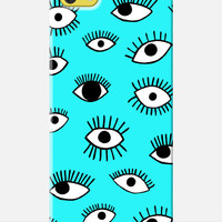 EYE Pattern iPhone 6 case, cartoon iPhone 6 Case, eye pattern iphone Case, 90s pattern, trendy illustration print, new iphone 6 case