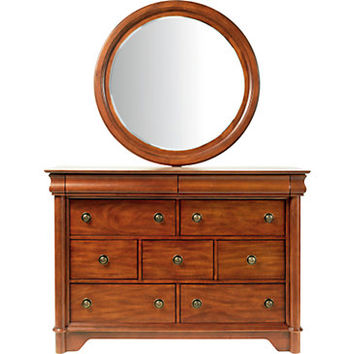 Oberon Cherry Dresser Mirror Set
