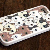 Free Shipping Cats iPhone 6 Plus iPhone 6 iPhone 5S iPhone 5C iPhone 5 iPhone 4S/4 Rubber Case
