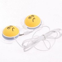 buy cheap Funny 3.5mm Stereo QQ Expression On-ear Headphones(Yellow) wholesale on China Gadget Land