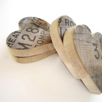 Fathers Day Gifts Wooden Heart -set.. on Luulla